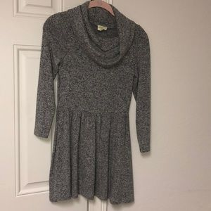 Soft gray girls dress